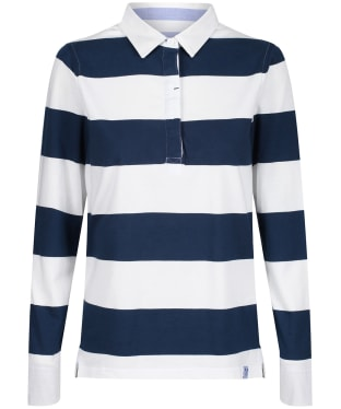 Women's Crew Clothing Heritage Rugby Shirt - Navy / White