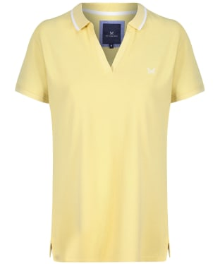 Women's Crew Clothing Notch Neck Polo Top - Citron