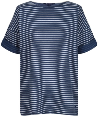 Women's Crew Clothing Corten Top - White/Navy