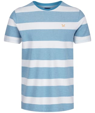 Men's Crew Clothing Oxford Stripe Tee - Navagio / White