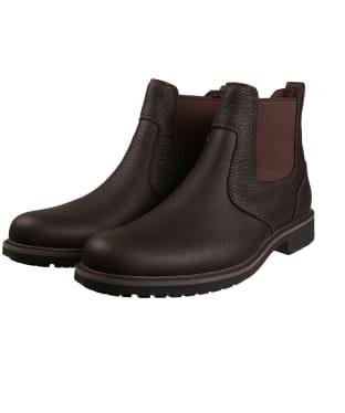 Men's Timberland Stormbucks Waterproof Chelsea Boots - Dark Brown Full-Grain