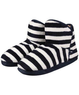 Women's Joules Cabin Slippers - Navy / Cream Stripe