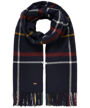 Women's Joules Farah Scarf - Purple / Navy Check