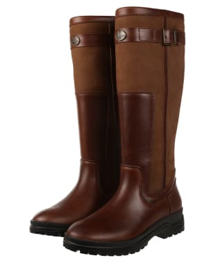 Women's Le Chameau Jameson Standard Fit Leather Boots - Caramel