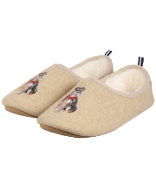 Women's Joules Slippet Slippers - Schnauzer