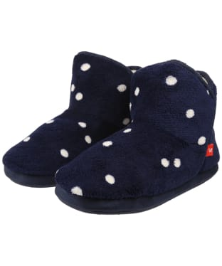 Women's Joules Cabin Slippers - Navy Spot