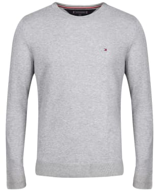 Men's Tommy Hilfiger Regular Fit Crew Neck Jumper - Cloud Heather