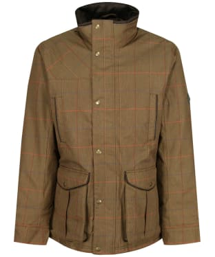 Men's Joules Fullerton Waterproof Tweed Jacket - Green Multi Tweed