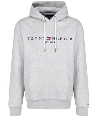 Men's Tommy Hilfiger Logo Fleece Hoody - Cloud Heather