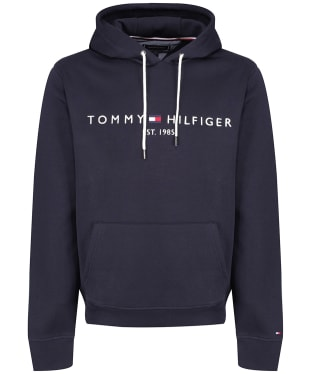 Men's Tommy Hilfiger Logo Fleece Hoody - Sky Captain
