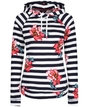 Women's Joules Marlston Print Hooded Sweatshirt - Cream