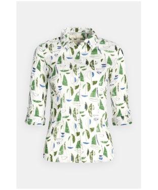 Women's Seasalt Larissa Shirt - Summer Sailboats Heath