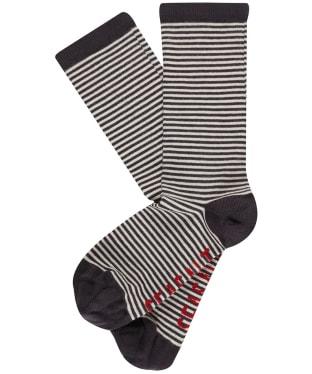 Women's Seasalt Sailor Socks - Mini Stripe Coal