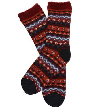 Women's Seasalt Cabin Socks - Aspect Rich Red