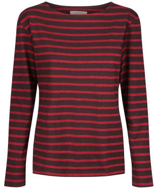 Women's Seasalt Sailor Shirt - Breton Bitter Cocoa Rich Red