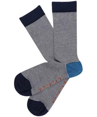 Men's Seasalt Sailor Socks - Garrows Midnight Chalk