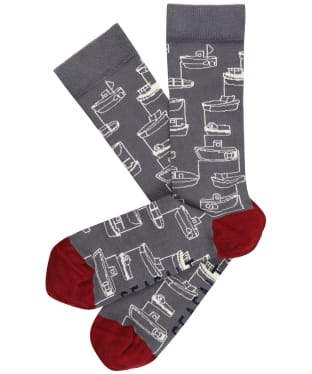 Men's Seasalt Sailor Socks - Harbour Boat Coal