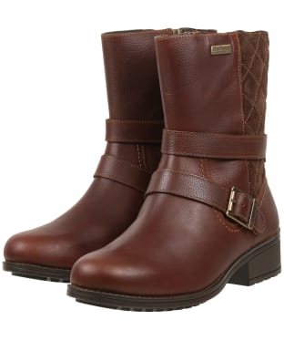 Women's Barbour Garda Leather Boots - Teak