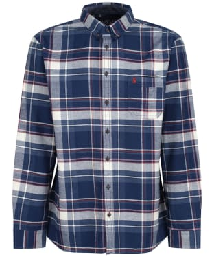 Men's Joules Buchannan Classic Shirt - Blue / Orange Check