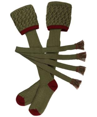Men's Schoffel Lattice Socks - Olive/Claret