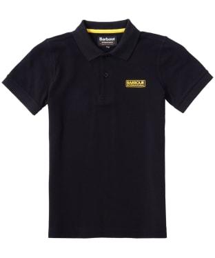 Boy's Barbour International Essentials Polo Shirt, 6-9yrs - Black