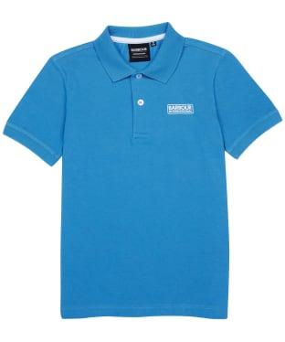 Boy's Barbour International Essentials Polo Shirt, 6-9yrs - Pure Blue