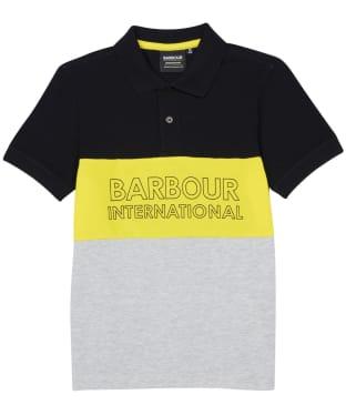 Boy's Barbour International Bold Polo Shirt – 6-9yrs - Black