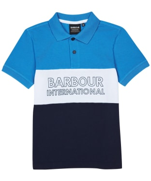 Boy's Barbour International Bold Polo Shirt – 6-9yrs - Pure Blue