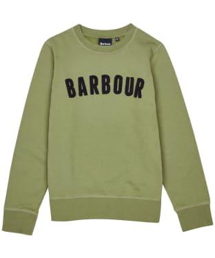 Boy's Barbour Prep Logo Crew Sweatshirt, 6-9yrs - Light Moss
