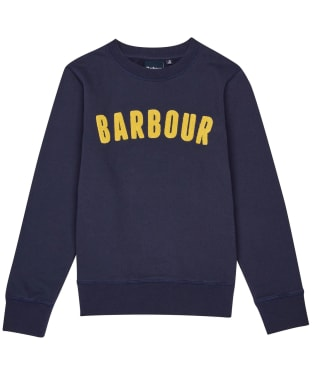 Boy's Barbour Prep Logo Crew Sweatshirt, 6-9yrs - Navy