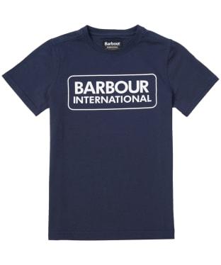 Boy's Barbour International Essential Large Logo Tee, 6-9yrs - Navy