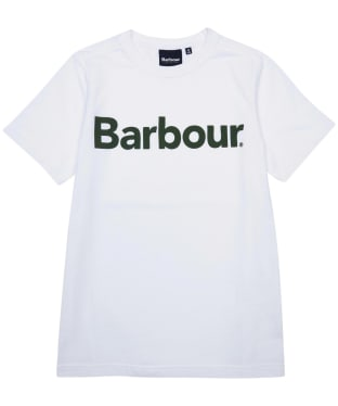 Boy's Barbour Logo Tee, 6-9yrs - New White