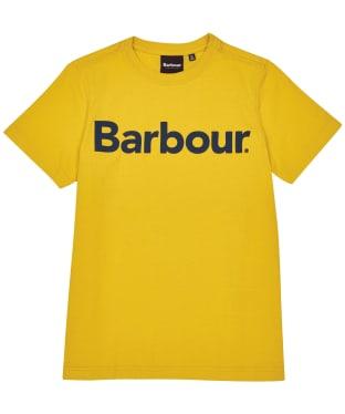 Boy's Barbour Logo Tee, 6-9yrs - Yolk