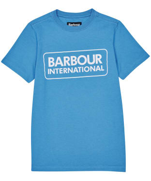 Boy's Barbour International Essential Large Logo Tee, 6-9yrs - Pure Blue