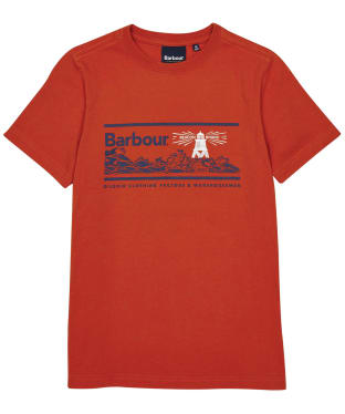 Boy's Barbour Riley Tee – 10-15yrs - Paprika