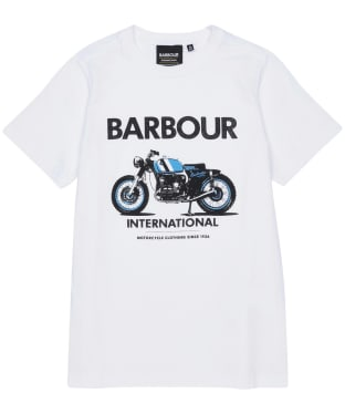 Boy's Barbour International Rider Tee – 10-15yrs - White