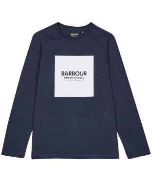 Boy's Barbour International Block Logo L/S Tee – 10-15yrs - Navy