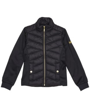 Girl's Barbour International Understeer Sweater Jacket – 6-9yrs - Black