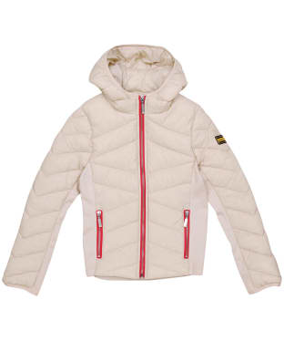 Girl's Barbour International Grid Quilted Jacket – 6-9yrs - Oyster