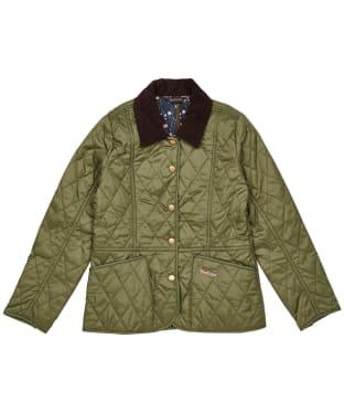 Girl's Barbour Printed Summer Liddesdale Quilted Jacket – 6-9yrs - Laurel