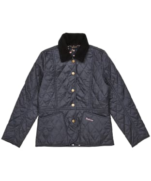 Girl's Barbour Printed Summer Liddesdale Quilted Jacket – 10-15yrs - Navy