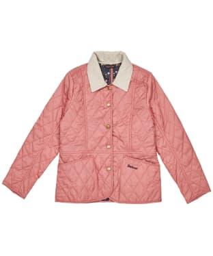Girl's Barbour Printed Summer Liddesdale Quilted Jacket – 6-9yrs - Vintage Rose