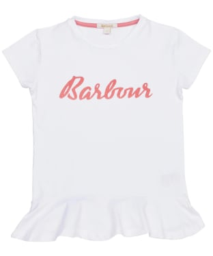Girl's Barbour S/S Rebecca Tee – 6-9yrs - White