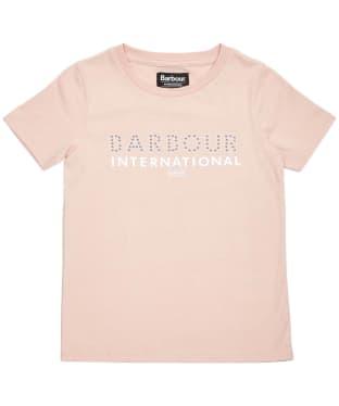 Girl's Barbour International Drifting Tee – 6-9yrs - Rose Dust