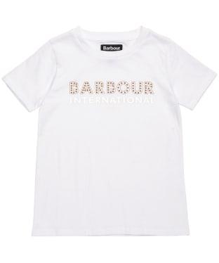 Girl's Barbour International Drifting Tee – 6-9yrs - White