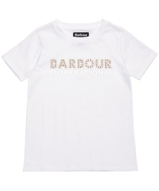 Girl's Barbour International Drifting Tee – 10-15yrs - White