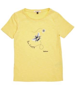 Girl's Barbour Merseyside Tee – 6-9yrs - Dandelion Yellow