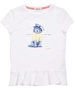 Girl's Barbour Rowen Tee – 6-9yrs - White