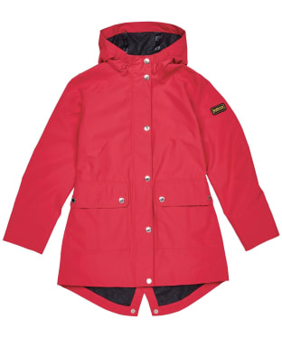 Girl's Barbour International Pedal Waterproof Jacket – 10-15yrs - Red Topaz