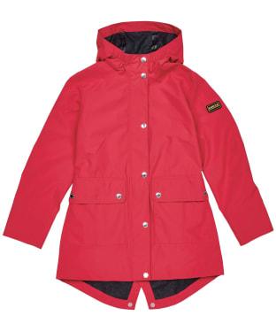 Girl's Barbour International Pedal Waterproof Jacket – 10-15yrs - Red Topaz